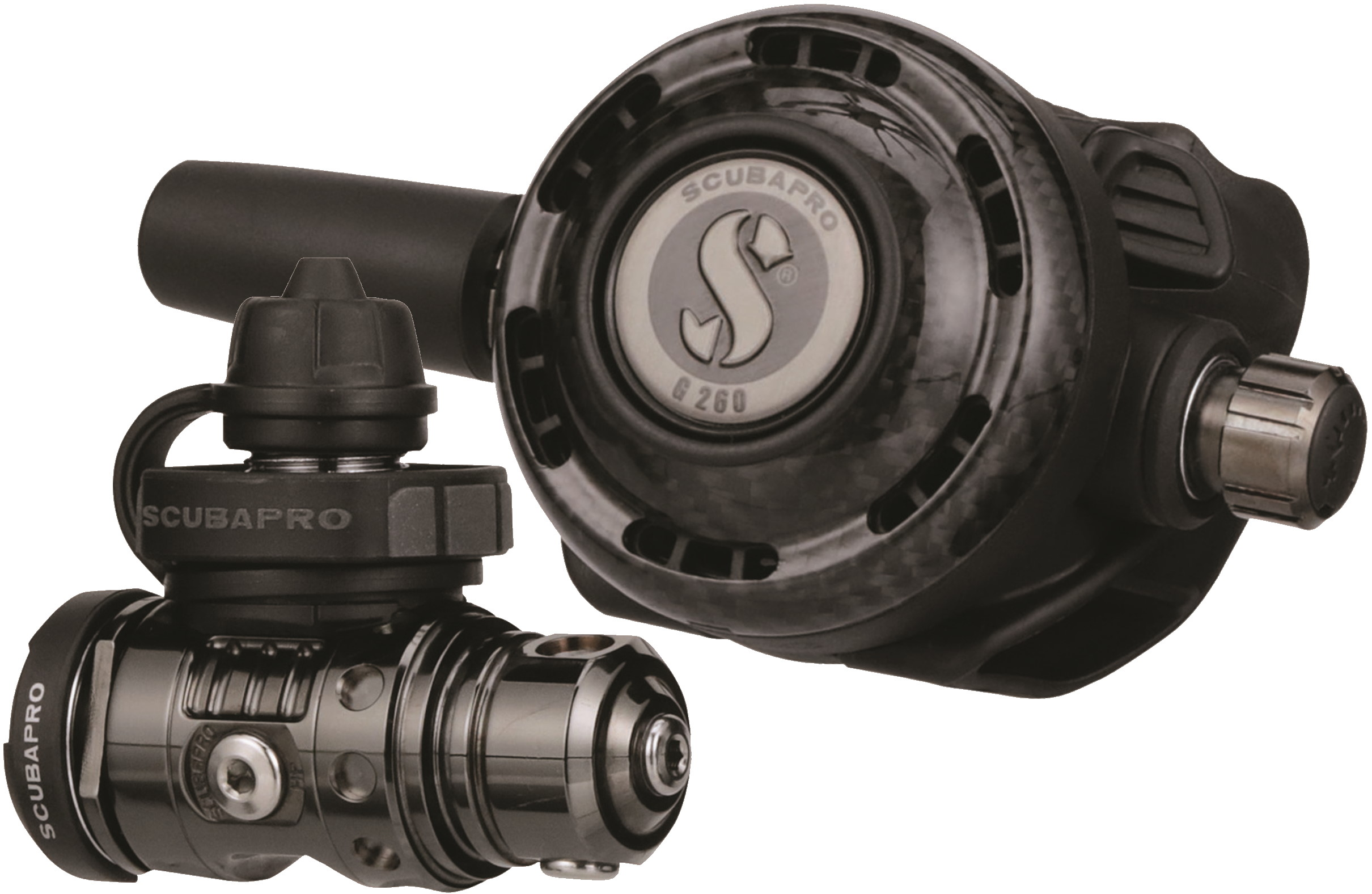 Водолазен регулатор Scubapro MK19 EVO BLACK TECH / G260 CARBON BLACK TECH – Scubapro