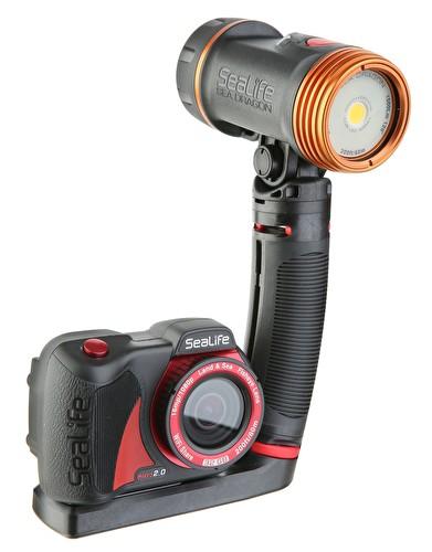 Комплект подводна фото-видео мини камера и осветление MICRO 2.0 HD / 1500 PRO - SeaLife