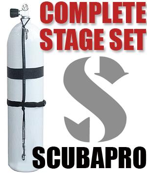 Алуминиева водолазна бутилка с комплект скоби за стейдж 7 л / 207 бара – Scubapro