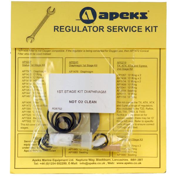 Ремонтен комплект за водолазен регулатор първа степен Apeks DS4