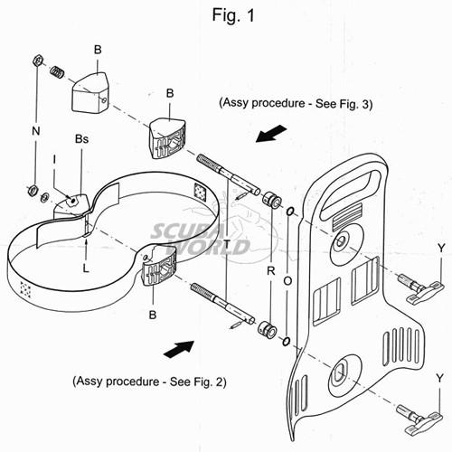 Система за сдвояване на водолазни бутилки BIBO KIT - Scubapro