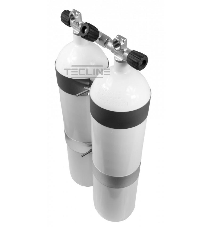 Сдвоени водолазни бутилки 2X20 / 232 бара – Eurocylinder