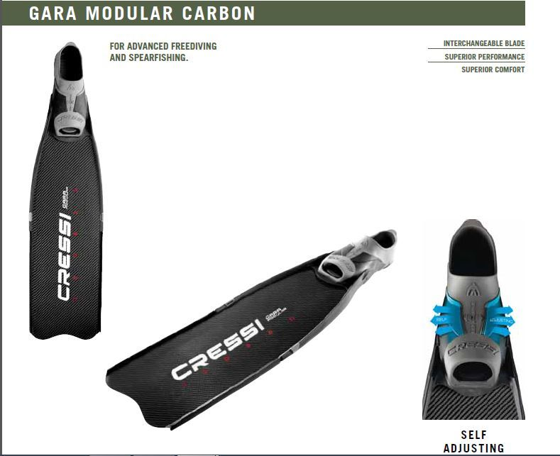 Плавници за подводен риболов GARA MODULAR - Cressi