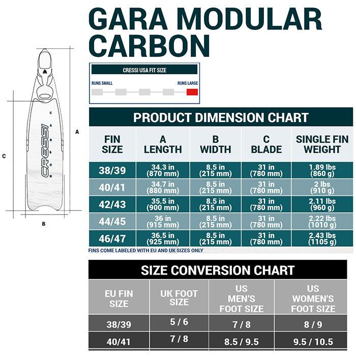 Карбонови плавници за подводен риболов GARA MODULAR CARBON - Cressi