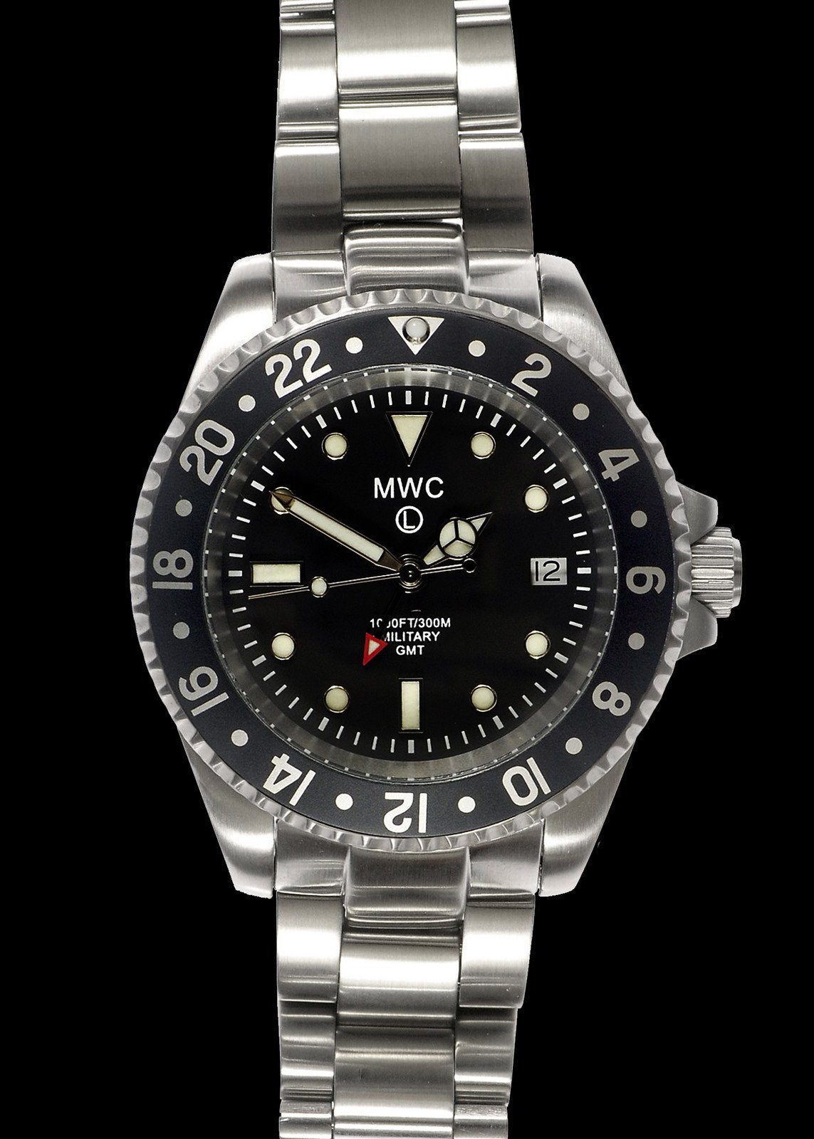 Водолазен часовник MWC GMT Dual Timezone 300m Quartz Military – MWC