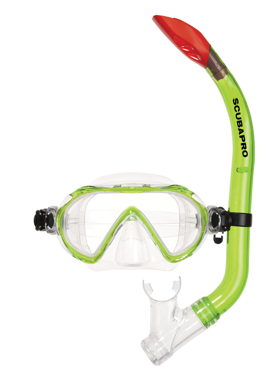 Комплект маска и шнорхел за деца SPIDER COMBO Kids Green - Scubapro