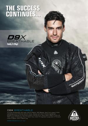 Сух водолазен костюм Waterproof D9X BREATHABLE - Waterproof
