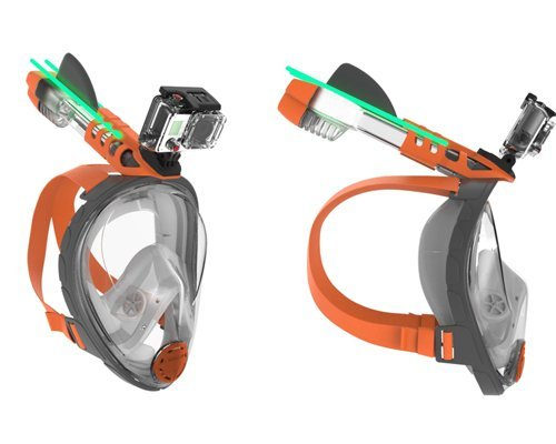 Монтаж за екшън камери върху маските за шнорхелинг ARIA CLASSIC и ARIA UNO – Ocean Reef
