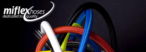 Шланг за основен водолазен регулатор Miflex XTREME с дължина 75cм / син – Miflex