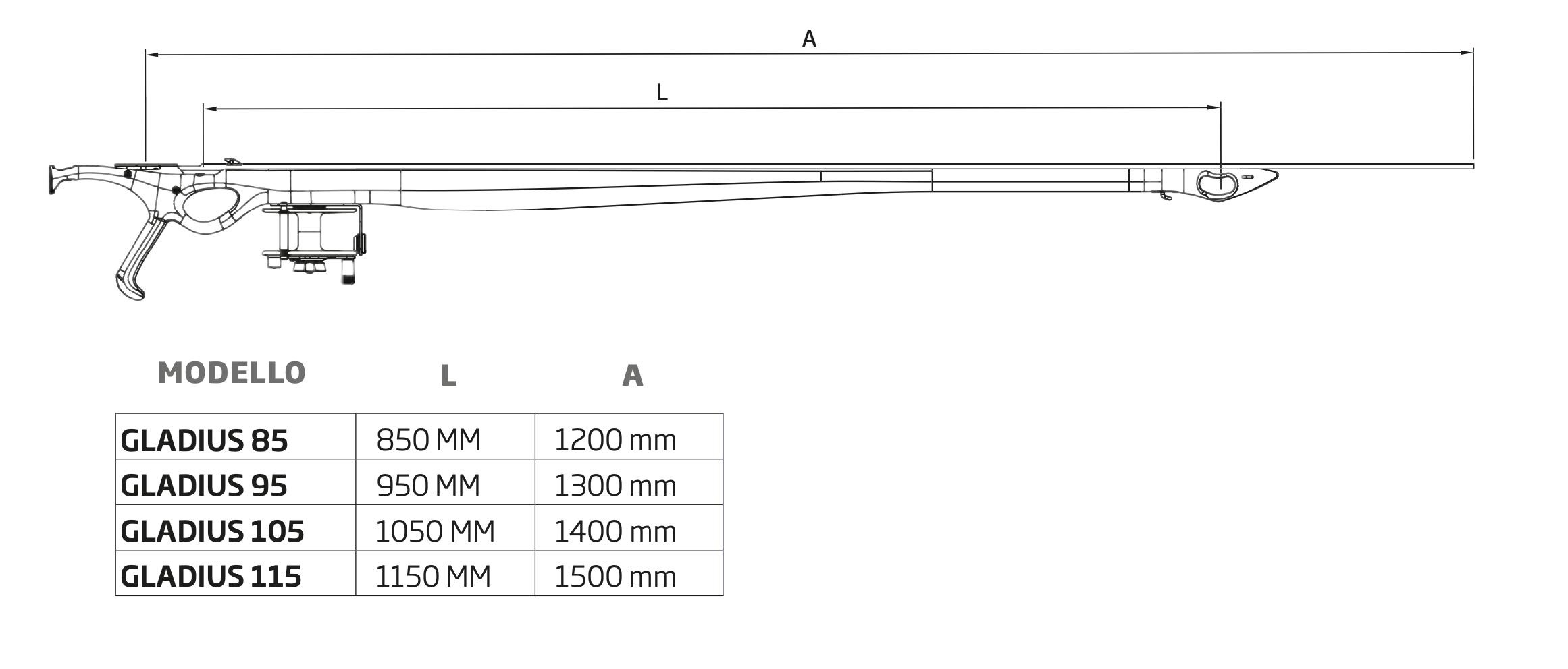 Карбонов харпун за подводен риболов GLADIUS CAMU 105 / 2x16 – C4