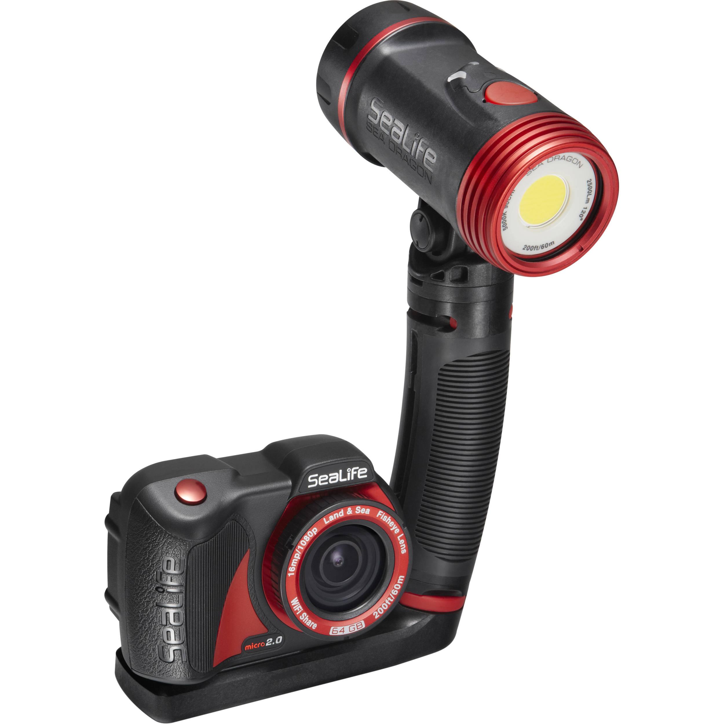 Комплект подводна фото-видео мини камера и осветление MICRO 2.0 HD / 2500 PRO - SeaLife