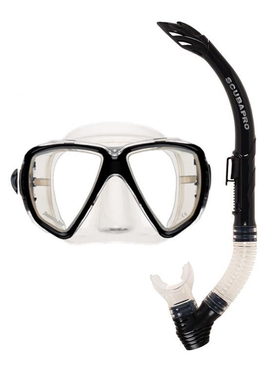 Комплект водолазна маска и шнорхел CURRENTS ADULT COMBO Black - Scubapro