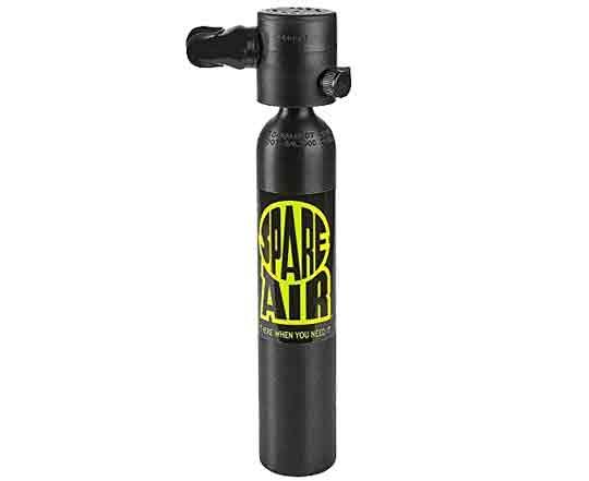 Водолазна спасителна бутилка с регулатор и интегриран манометър SPARE AIR 3.0 cu.ft – Spare Air