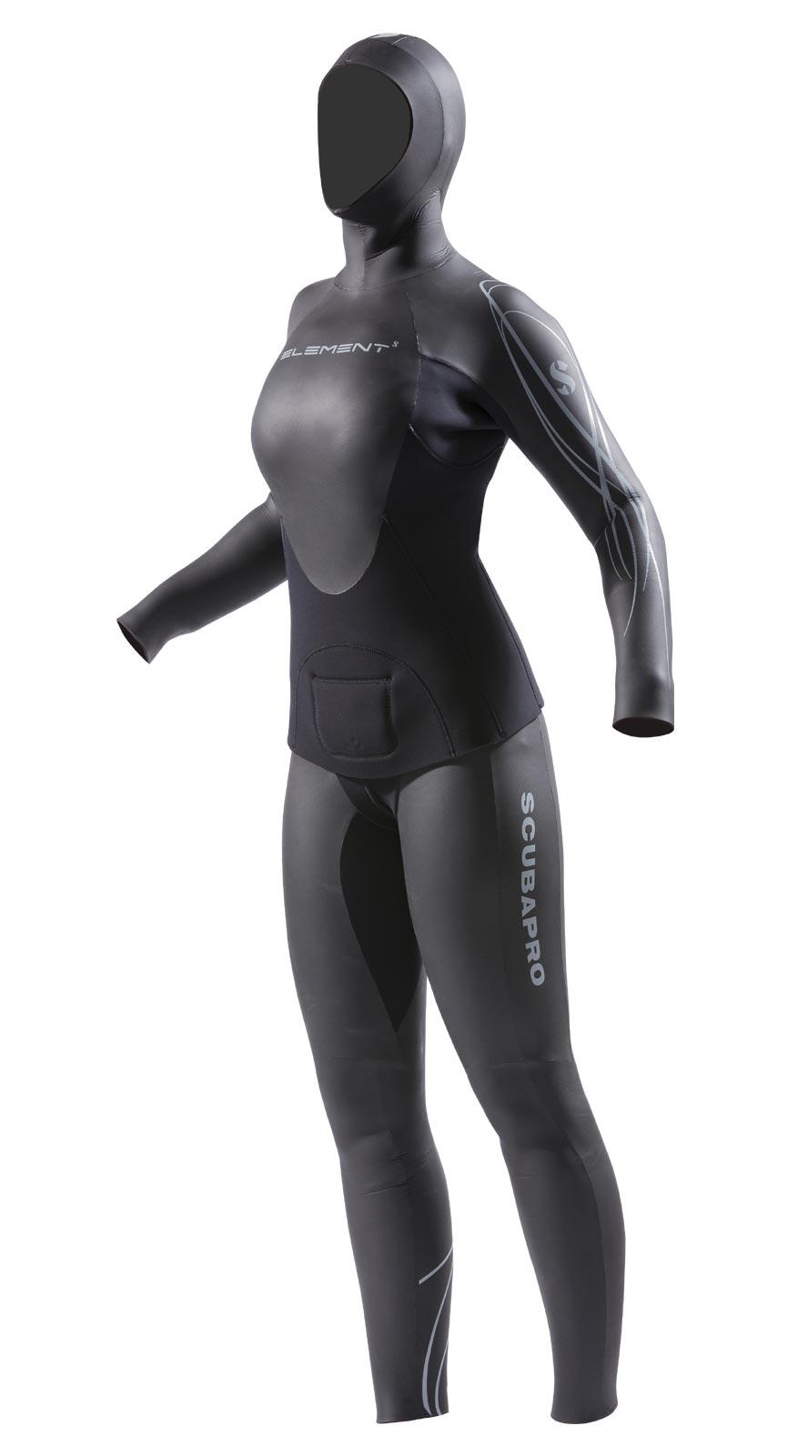 Дамски костюм за фриидайвинг ELEMENT 2PC FFREEDIVING Lady 5/4 мм - Scubapro
