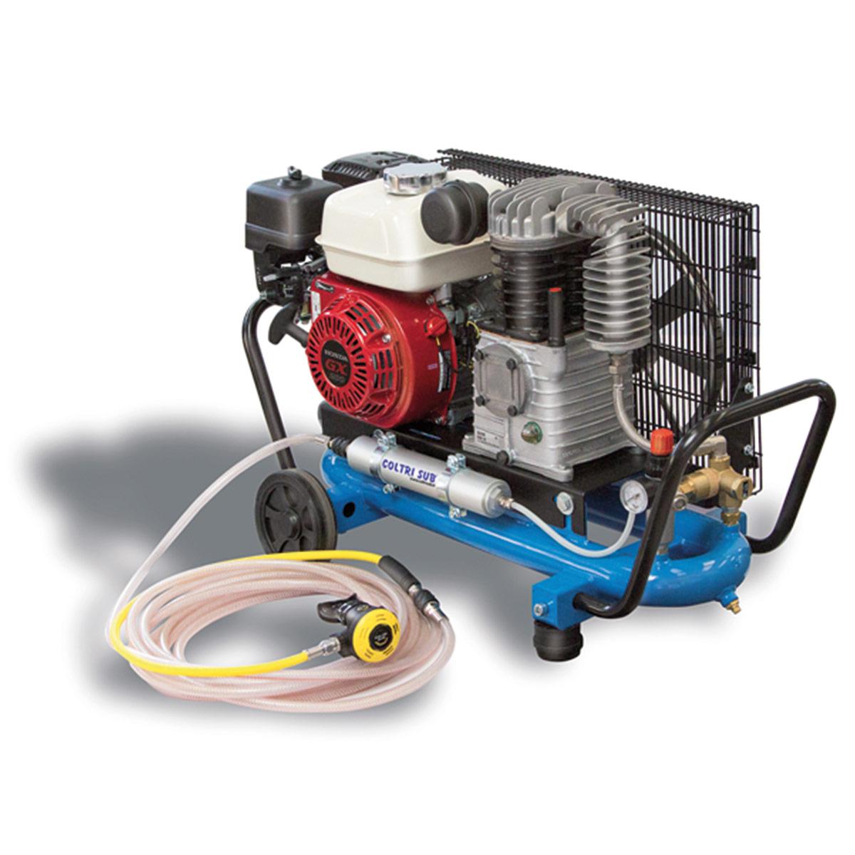Бензинов водолазен компресор тип Наргеле ЕOLO 330 SH THIRD LUNG COMPRESSOR 8 бара / HONDA - Coltri