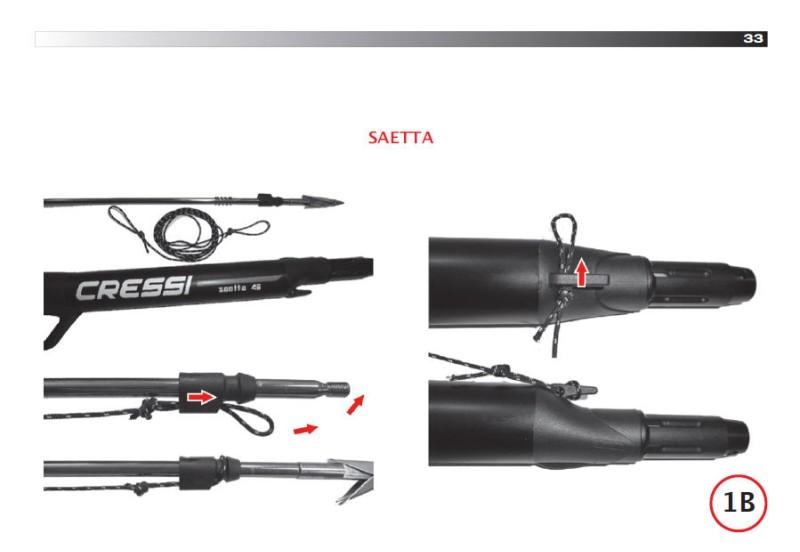 Пневматичен харпун Cressi SAETTA 40 без редуктор - Cressi