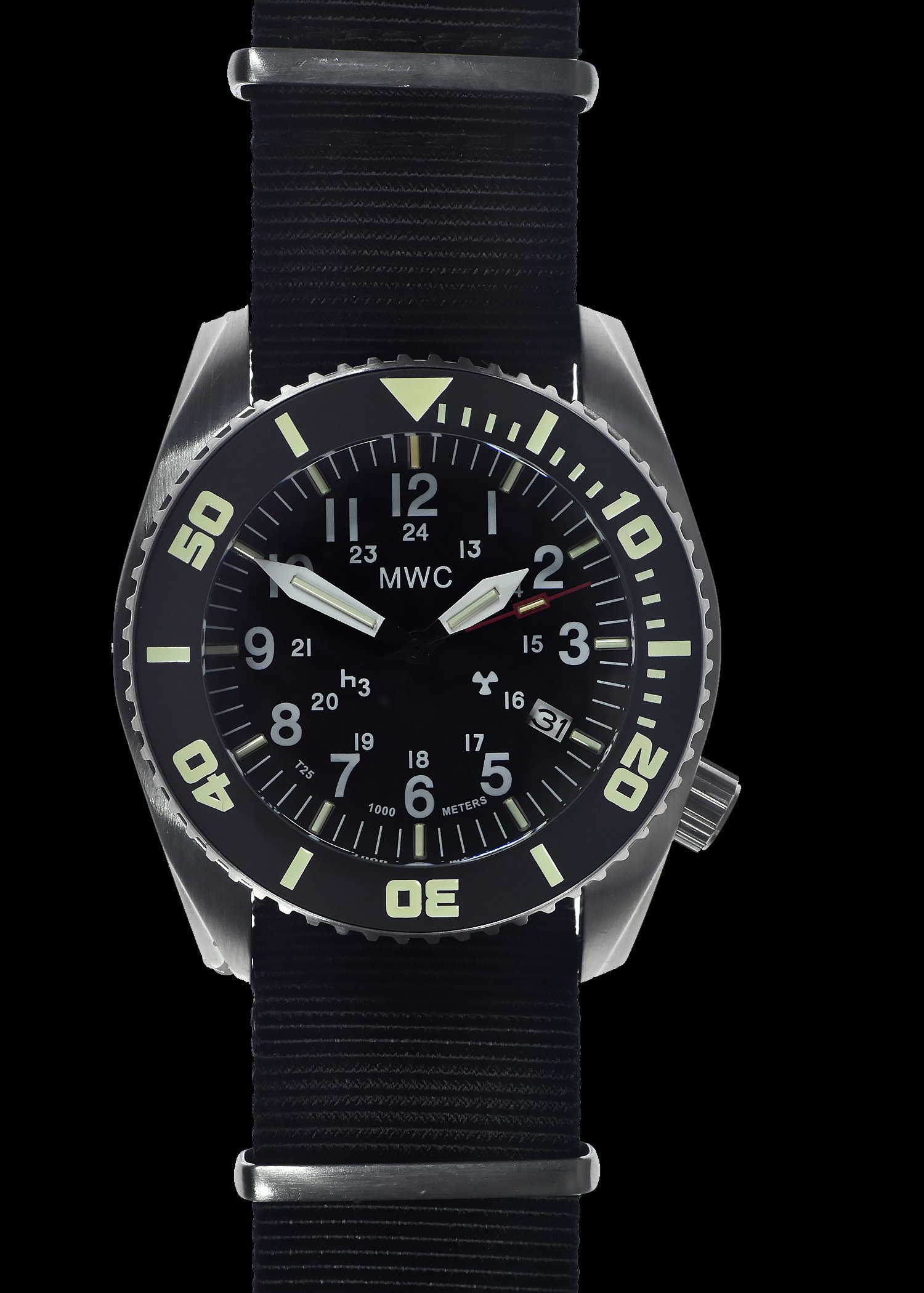 Водолазен часовник DEPTHMASTER Automatic Tritium GTLS 1000m / 100atm Military Divers Helium - MWC