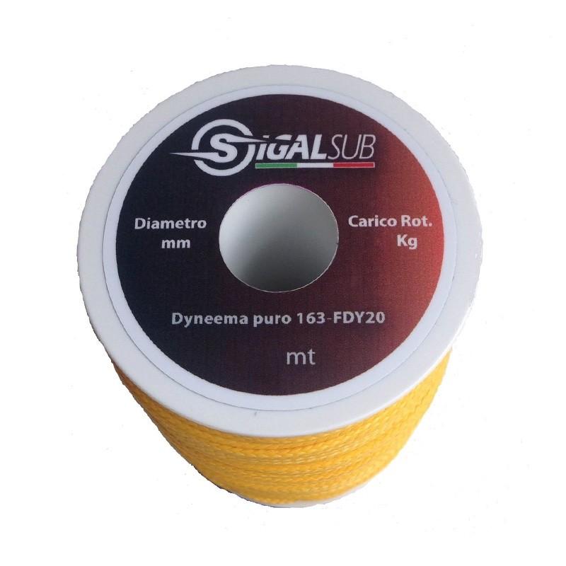 Високo устойчивa линия DYNEEMA PURE от 100% Dyneema® 1,5 мм / 300 кг – Sigalsub
