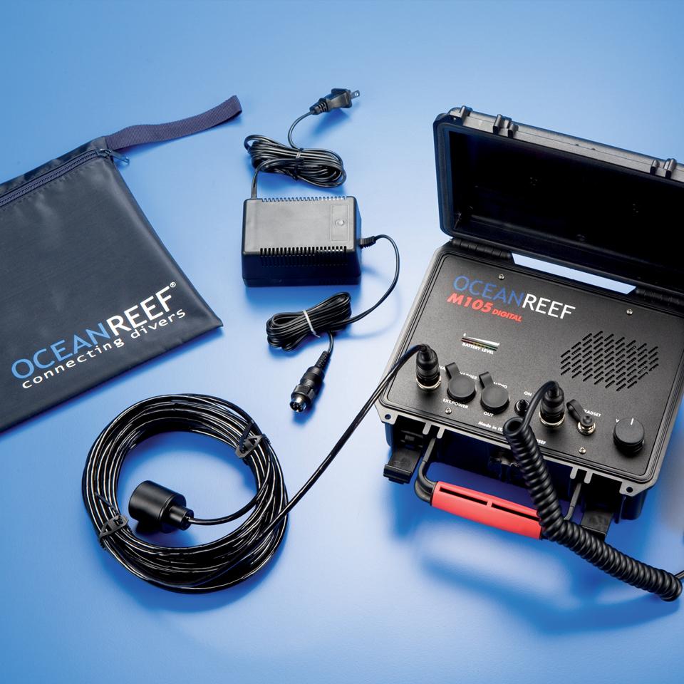 Двуканална професионална система за комуникация на водолаза с повърхоността M100 DIGITAL DC – Ocean Reef
