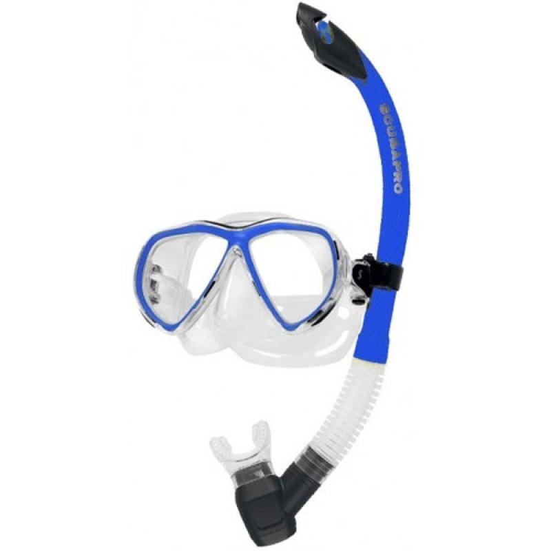 Комплект водолазна маска и шнорхел CURRENTS COMBO PRO Blue - Scubapro