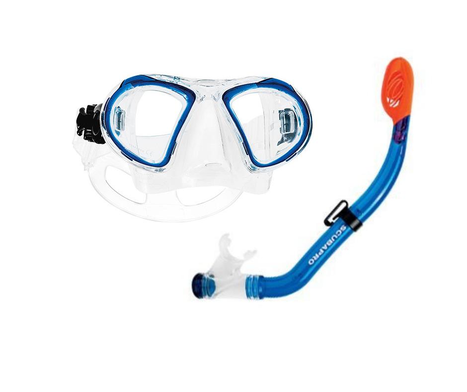Детски комплект водолазна маска и сух шнорхел MINI DRY Kids Blue - Scubapro