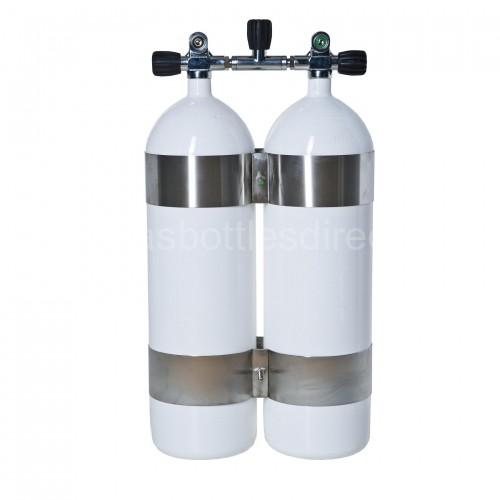 Сдвоени водолазни бутилки с плоско дъно 2X7 / 300 бара - VKVC