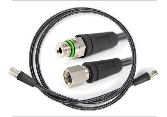 Шланг за високо налягане / за водолазен манометър Miflex XTREME с дължина 75cм / карбон – Miflex
