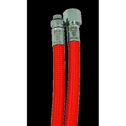 Шланг за основен водолазен регулатор Miflex XTREME с дължина 75cм / червен – Miflex