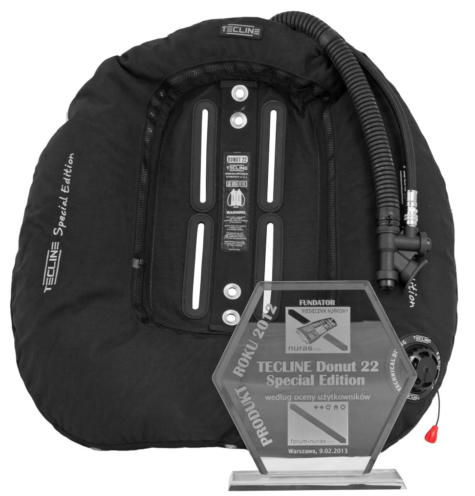 Водолазно крило за техникъл дайвинг DONUT 22 Special Edition BLACK - Tecline