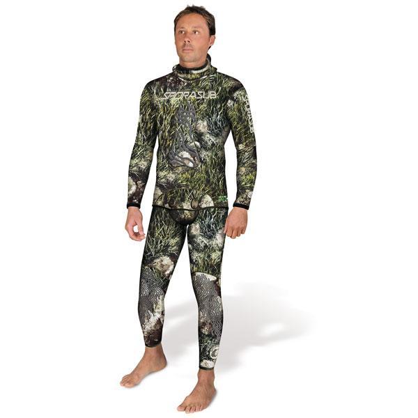 Неопренов костюм за подводен риболов SEA GREEN 5 мм - Sporasub