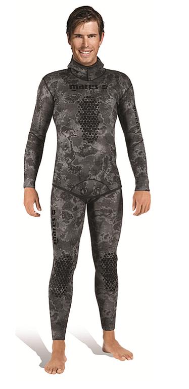 Неопренов костюм за подводен риболов EXPLORER CAMO BLACK 3.0 мм - Mares