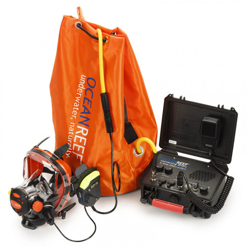 Комплект професионална подводна комуникационна система с кабелна връзка ALPHA PRO X DIVERS – Ocean Reef
