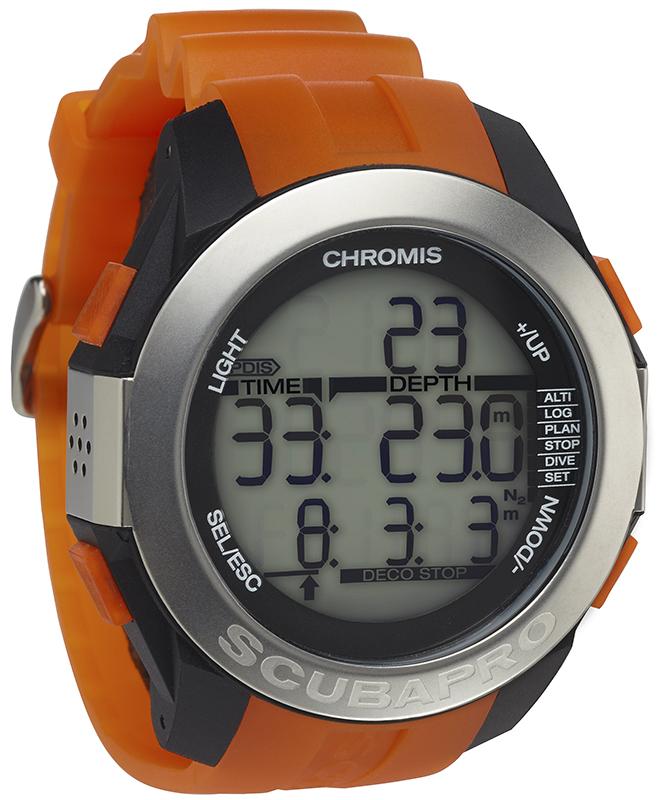 Водолазен компютър с режим за фридайвинг CHROMIS Orange / Black - Scubapro