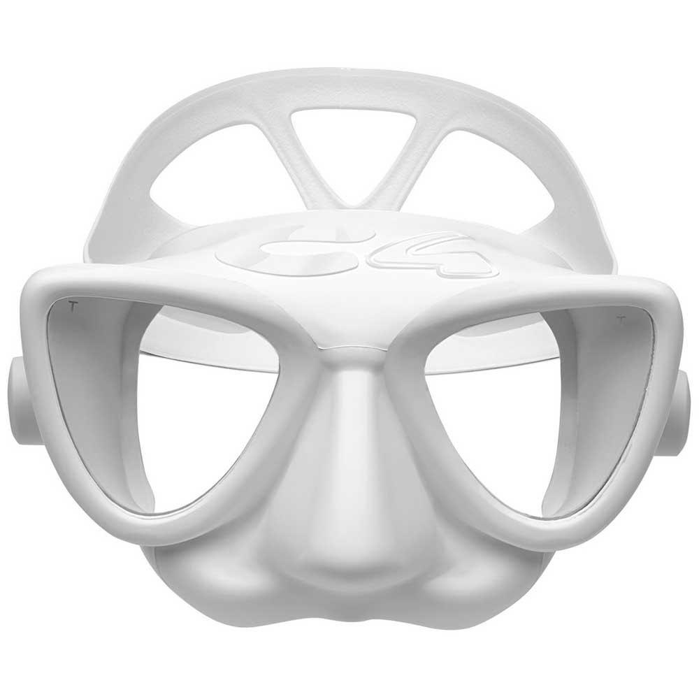 Маска за подводен риболов и фриидайвинг PLASMA White – C4