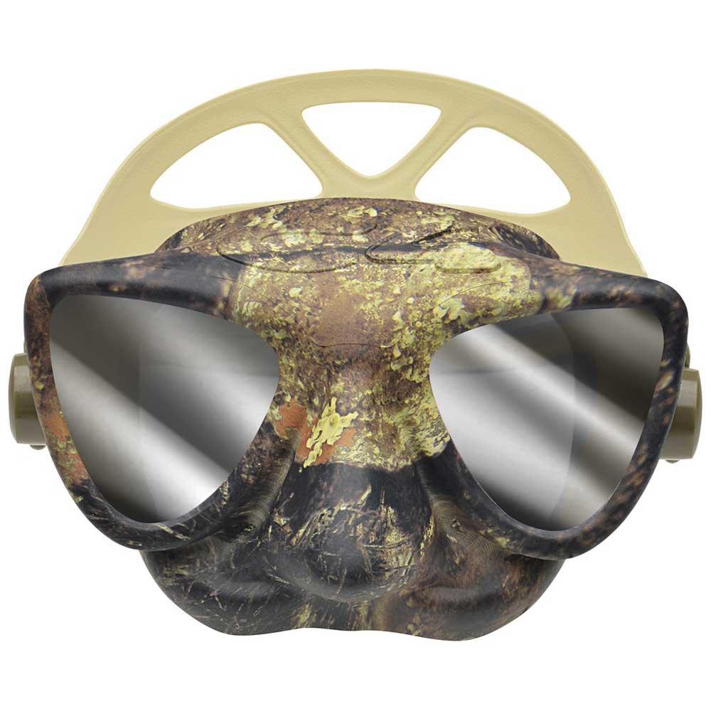 Маска с огледални стъкла за подводен риболов и фриидайвинг PLASMA Camo Green Mirror – C4