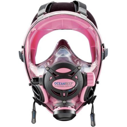 Целолицева водолазна маска NEPTUNE SPACE G.Divers Pink – Ocean Reef