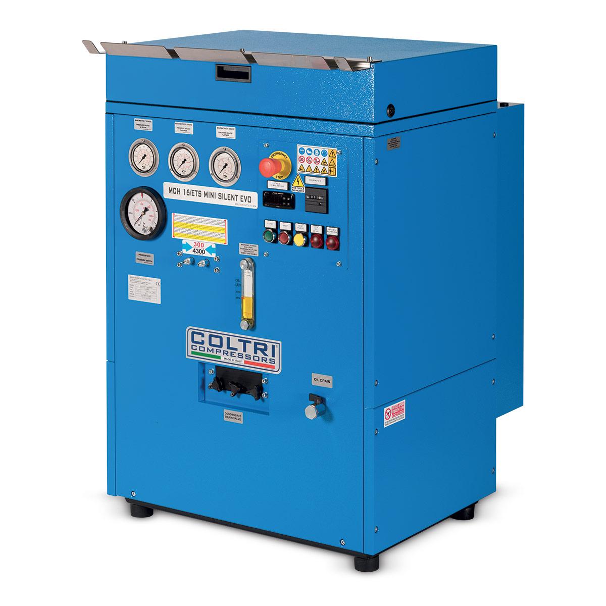 Тих водолазен компресор MCH 16 ETS MINI SILENT EVO 232 бара / 330 бара – Coltri
