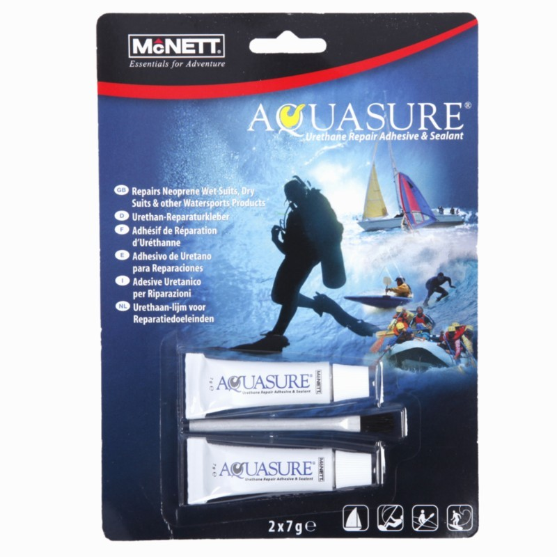 Уретаново лепило за лепене на водолазни жилетки и сухи водолазни костюми AQUASURE 2x7 гр - McNETT