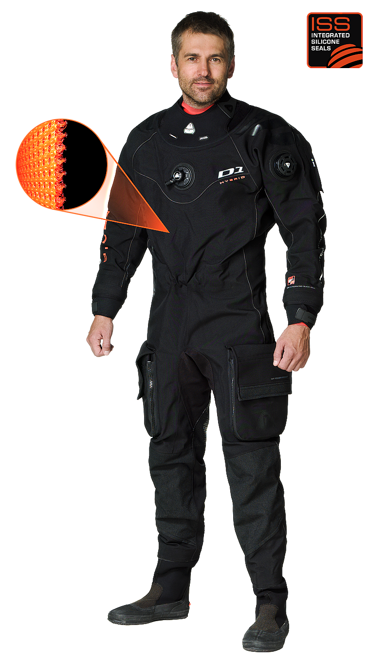 Сух водолазен костюм D1 HYBRID - Waterproof