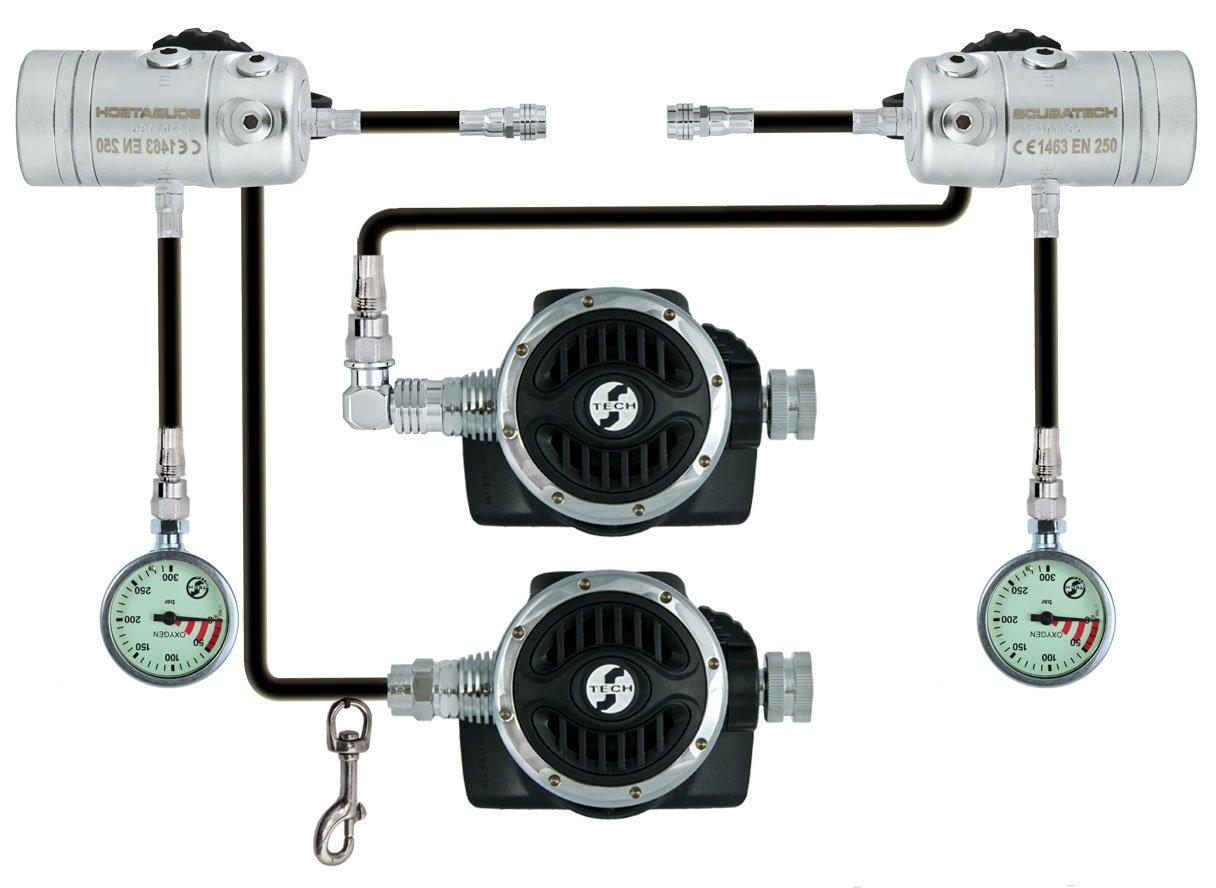 Водолазни регулатори комплект SIDEMOUNT R2 TEC – Tecline