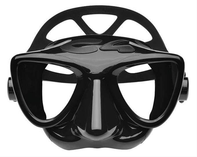 Маска за подводен риболов и фриидайвинг PLASMA Black – C4