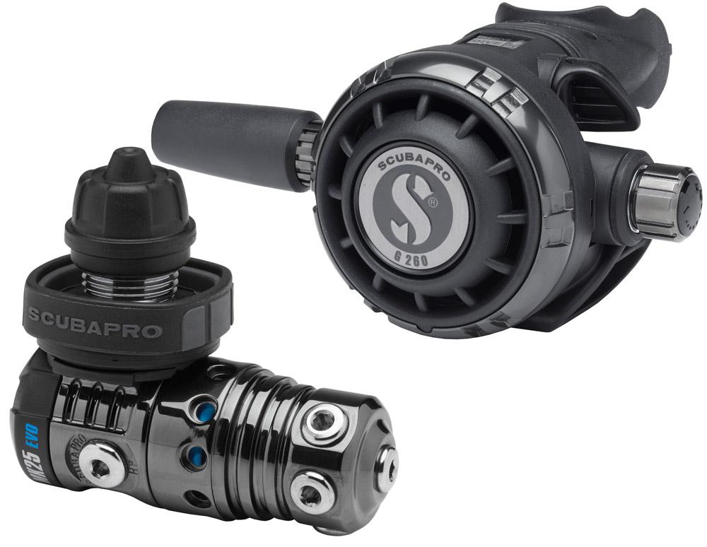 Тактически водолазен регулатор MK25 EVO / G260 Black Tech Тactical - Scubapro