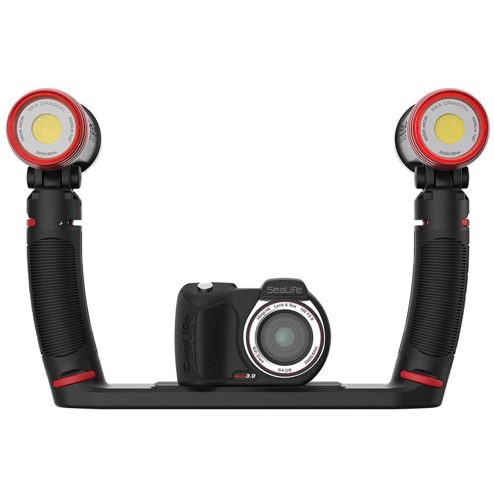 Комплект подводна фото-видео камера с двойно подводно осветление 5000 лумена MICRO 3.0 PRO DUO 5000 - SeaLife