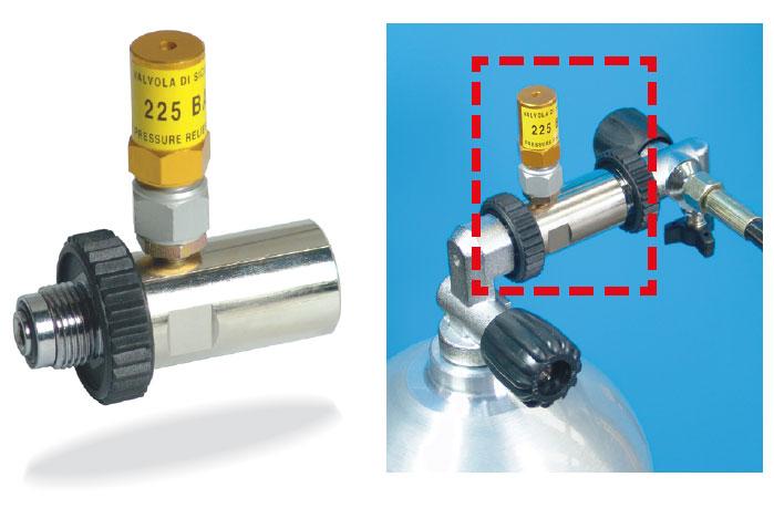 Осигурителен клапан за пълнене на водолазни бутилки 225 бара – Coltri