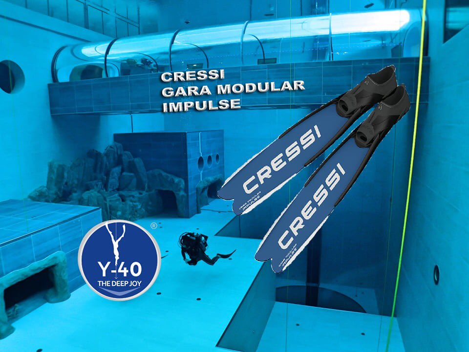 Плавници за подводен риболов и фриидайвинг GARA MODULAR IMPULSE NERY - Cressi