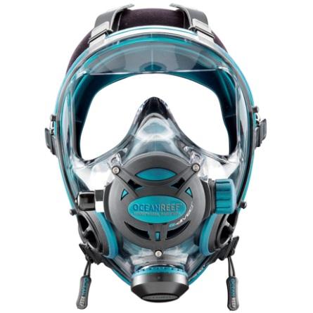 Целолицева водолазна маска NEPTUNE SPACE G.Divers Emerald – Ocean Reef