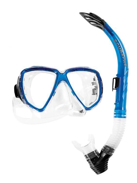 Комплект водолазна маска и шнорхел CURRENTS ADULT COMBO Blue - Scubapro