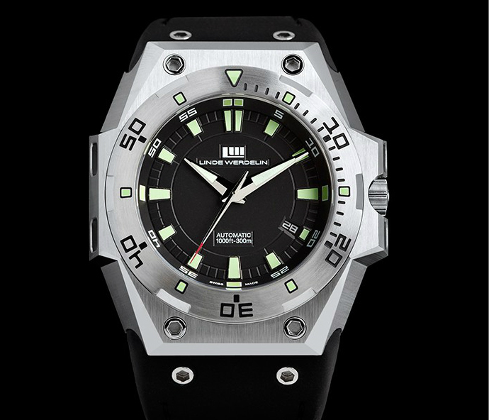 Водолазен часовник The One Steel black dial - Linde Werdelin