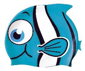 Детска силиконова шапка за плуване CAP FISH Kid - Sommap