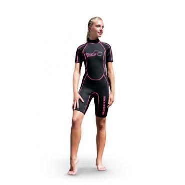 Дамски къс водолазен костюм DОNNA DEVIL 2,5 мм - Bestdivers